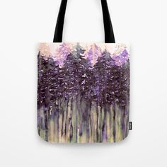 NORTHWEST VIBES Colorful Watercolor Painting Forest Trees Violet Green Modern Nature Art West Coast Fashion Tote Bag by Ebi Emporium Artist Julia Di Sano, #tote #totebag #canvas #forest #trees #watercolor #painting #purple #style #stylish #modern #pnw #pacificnorthwest #vancouver #portland #seattle #art