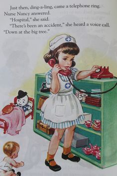 "Nurse Nancy - from ""Nurse Nancy"" by  Kathryn Jackson,  illus. by Corinne Malvern:"