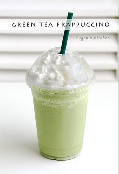Hi, I'm Eugenie. Today I'm making green tea Frappuccino, which is the last Frappuccino this summer. But actually it's my favorite Frappuccino. With or without whipped cream, this is seriously good. So yummy! Iced Green Tea Frappuccino For 1 serving … Continue reading →