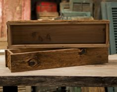 reclaimed wood box centerpiece | Mushroom Wood Planter Box - Provenance Mill Works | Provenance Mill ...
