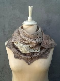 Scarf in lace and garter stitch by Helle Slente Design/House of Yarn My Design, House Design, Crazy Cakes, Garter Stitch, Shawls, Norway, Cowl, Free Pattern, Scarves