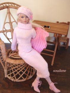 Modèle gratuit : une jupe longue pour poupée mannequin de 40 cm