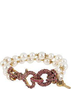 ICONIC PINKALIOUS PEARL BRACELET FUSCHIA accessories jewelry bracelets fashion