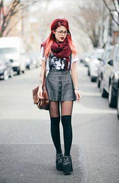 cute girl, long hair, fashion, alternative