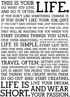 this is your LIFE (Holstee Manifesto)