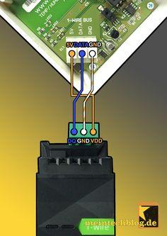 """Capteur 1-Wire qualité température-humidité dans l'air Loxone intégrer """"meintechblog.de"""