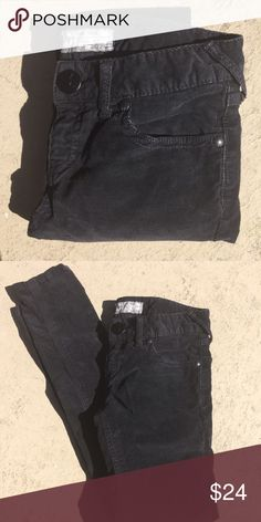 Free People Skinny Cords From Free People; size 27 waist; charcoal in color. Wonderful condition Free People Pants Skinny