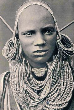 Africa | Kikuyu girl || Scanned vintage postcard