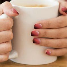 Fingernail Design By Peter Chassé - Cherry Color Effect Nail Wraps