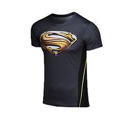 Men's Superman T-shirt Gold Letters
