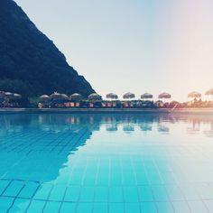 Beautiful pool in Ischia, Italy