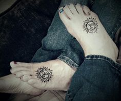 Mine and my sister's tattoos to honor our father who passed. Celtic symbol for Father and Daughter.