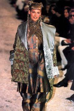 Linda Evangelista:  John Paul Gaultier Runway, 1994