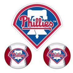 Philadelphia Phillies MLB Ultimate Car Magnet Kit (3Pc Set)