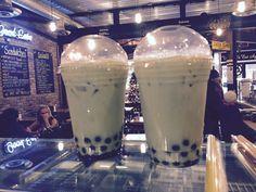 green tea bubble tea! #bubbletea #bakery #goodies