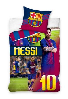 This FC Barcelona Messi 10 Single Duvet Cover Set has a 2 in 1 reversible design. Free UK delivery available. Messi 10, Lionel Messi, Single Duvet Cover, Duvet Cover Sets, Football Bedroom, Fc Barcelona, Colours, Cactus, Free Uk