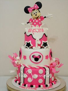 Minnie Mouse Cake Gallery Picture - Decorating Cake DIY Pink Topsy ...