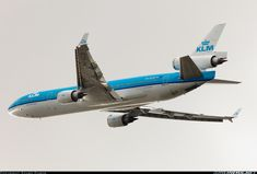 """KLM McDonnell Douglas MD-11 PH-KCD """"Florence Nightingale"""" climbing away after departing Amsterdam-Schiphol, September 2011. (Photo: Szabo Gabor)"""