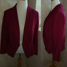 Torrid Burgundy Blazer Torrid Burgundy Blazer. Long sleeve. Very comfy. Accidentally bought two of the same. Hardly worn, in great condition. Fits sizes 16/18 torrid Jackets & Coats Blazers