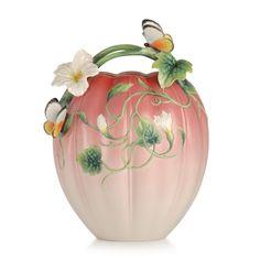 FZ03213 Franz Porcelain Happy Family Butterfly Vase New 2014
