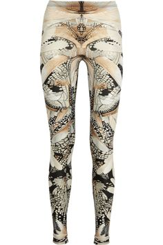 A little party to an outfit: Alexander McQueen | Wing-print stretch leggings
