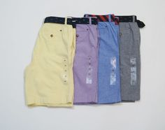 TOMMY HILFIGER Men Solid Color Casual Shorts with Belts NEW NWT  #TommyHilfiger #CasualShorts