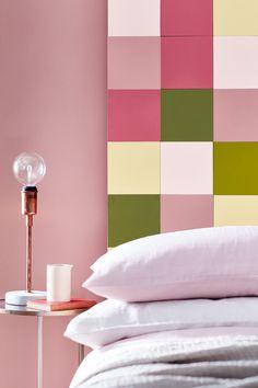 Little Greene roze slaapkamer