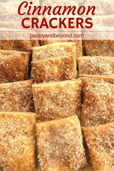 Five Approaches To Economize Transforming Your Kitchen Area Cinnamon Sugar Crackers-These Delicious Homemade Cinnamon Crackers Are Crunchy And Full Of Cinnamon Flavor You Only Need Few Ingredients To Make This Cinnamon Sugar Cracker Recipe With Butter Baking Recipes, Snack Recipes, Dessert Recipes, Desserts, Saltine Cracker Recipes, Seasoned Crackers, Homemade Crackers, Snacks Homemade, Sourdough Recipes