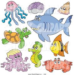 cute seahorse clipart - Google Search