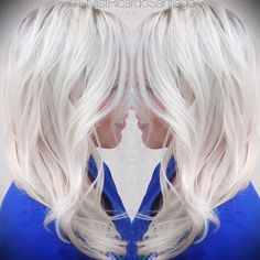 So icy! Platinum #blonde by @stylistricardosantiago using #joico #haircolor…