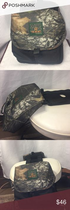 Mad dog 🐶 Gear Saddlebags for 4 wheelin MAD DOG GEAR!! Two saddlebags for a four wheeler or motorcycle and  they are connected by some material that stretches over or near the seat! The saddlebags are an excellent condition with no holes, stains or tears!  These are perfect to carry your supplies when you are deep in the woods having fun! mad dog gear by Stearns Bags