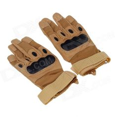 Stylish Tactical Protective Full-finger Gloves - Coyote Tan (Pair / Size-L) Price: $13.10