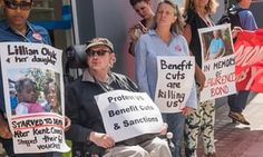 It's true: Conservative governments really do kill people    A protest outside Kentish Town Jobcentre, north London, about people who have died as a result of benefit cuts.