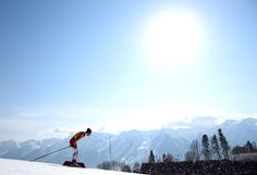 Nobu Naruse of Japan competes during the Cross Country Men's 4x10km Relay (c) Getty Images