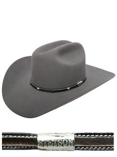 Stetson Hats Angus New Frontiers Collection Granite Cowboy Hat Bands, Felt Cowboy Hats, Western Cowboy Hats, Western Art, Cowboy Outfits, Country Outfits, Stetson Hats, Hats For Men, Women Hats