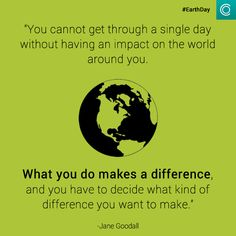 Today is #EarthDay. What kind of difference do you want to make? Let's act on climate change now! http://twitpic.com/e1qezq via @Havas Climasphere