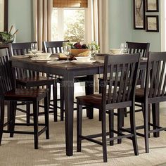 Three Falls Counter Height Table W/ Leaf Homelegance | Furniture Cart