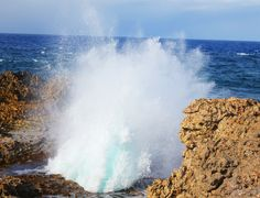 Boka Pistol Curacao. Nationaal park Shete Boka