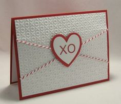 Heart String Valentine Card by StampingCowgirlCreations for $4.00