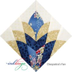 Fussy Cut Cleopatra's Fan
