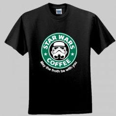 Star Wars Storm troopers Coffee parody cool funky Men t-shirt / Unisex t shirt  Darth Vader Anakin Luke Skywalker Sizes: S - XXL