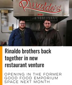 @rinaldoshfx will open in a month in the former Good Food space on Windsor Street. from @localxpress  . Tony & Sam Rinaldo are back in the same Hfx kitchen. . They cut their teeth in their dads pizza place Salvatores New York then they cooked together in Las Vegas & Jasper before Sam returned home to work in a series of Hamachi Group restaurants while Tony kept moving to Lyon NY & Mtl. . They partnered up again a couple of years ago w/ the gourmet hot dog cart T-Dogs now theyre going back…