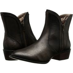 VOLATILE Moffit Women's Zip Boots featuring polyvore, fashion, shoes, boots, ankle booties, ankle boots, faux leather booties, chunky heel ankle boots, leather bootie, short boots and thick heel booties