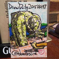 Surfacing 2015-07-16 01:06am DD197 #drawdaily2015 #atlsketchsociety #getsketchy16 #smorgasbord