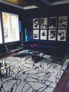 Custom Tracery rug by Kelly Wearstler for The Rug Company. Image courtesy of Eksa Designs, LA. @Kelly Wearstler