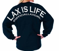 Lacrosse Is Life Official Lacrosse Girl Spirit Football Jersey™