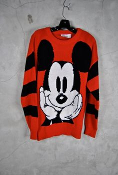 1980's MICKEY MOUSE sweater dress oversize by youngandukraine - StyleSays