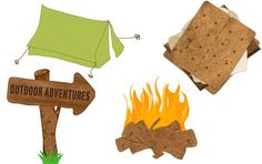 free camping downloads for digital scrapbooking from Creative Memories