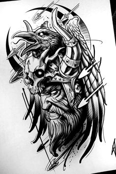 warrior sketch tattoo - - Ellen Wild -raven warrior sketch tattoo - - Ellen Wild - L'image contient peut-être : dessin - - I simply love the designs, lines, and fine detail. This is definitely an awesome artwork if you would like a Amenic_tattoo ( Viking Tattoo Sleeve, Norse Tattoo, Viking Tattoos, Thai Tattoo, Maori Tattoos, Tribal Tattoos, Armor Tattoo, Tattoo Symbols, Samoan Tattoo
