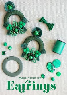 ZepJewelry leading luxury magazine featuring the top latest jewelry trends. Trendy necklaces, rings, pendants and earrings. Discover the latest trends here. Diy Macrame Earrings, Tassel Jewelry, Fabric Jewelry, Diy Earrings, Earrings Handmade, Beaded Jewelry, Handmade Jewelry, Gold Earrings, Latest Jewellery Trends